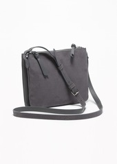 Old Navy Dual-Zip Faux-Leather/Faux-Suede Crossbody Bag for Women