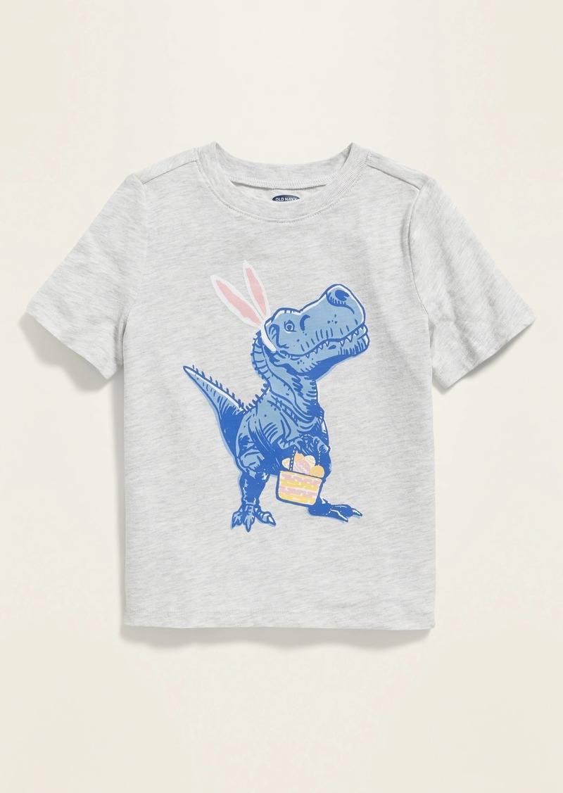 Old Navy Easter Dinosaur Graphic Tee for Toddler Boys