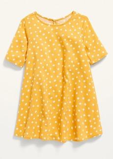 Old Navy Elbow-Sleeve Swing Dress for Toddler Girls