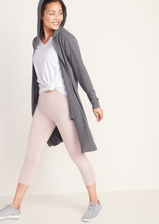 Old Navy Long Open-Front French Terry Wrap Hoodie for Women