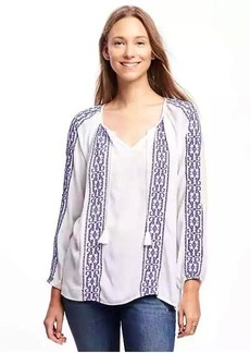 Old Navy Embroidered Boho Swing Top for Women