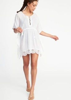 Embroidered Gauze Swim Kaftan for Women