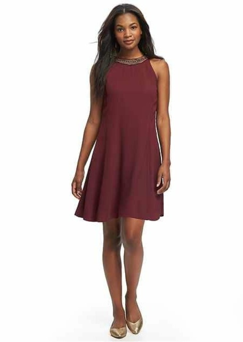 481b82797d6 Old Navy Embroidered High-Neck Swing Dress for Women