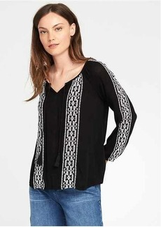 Old Navy Embroidered Swing Blouse for Women