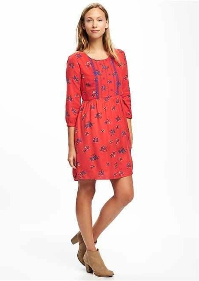 63cce6e5dd16 Old Navy Embroidered Swing Dress for Women | Dresses