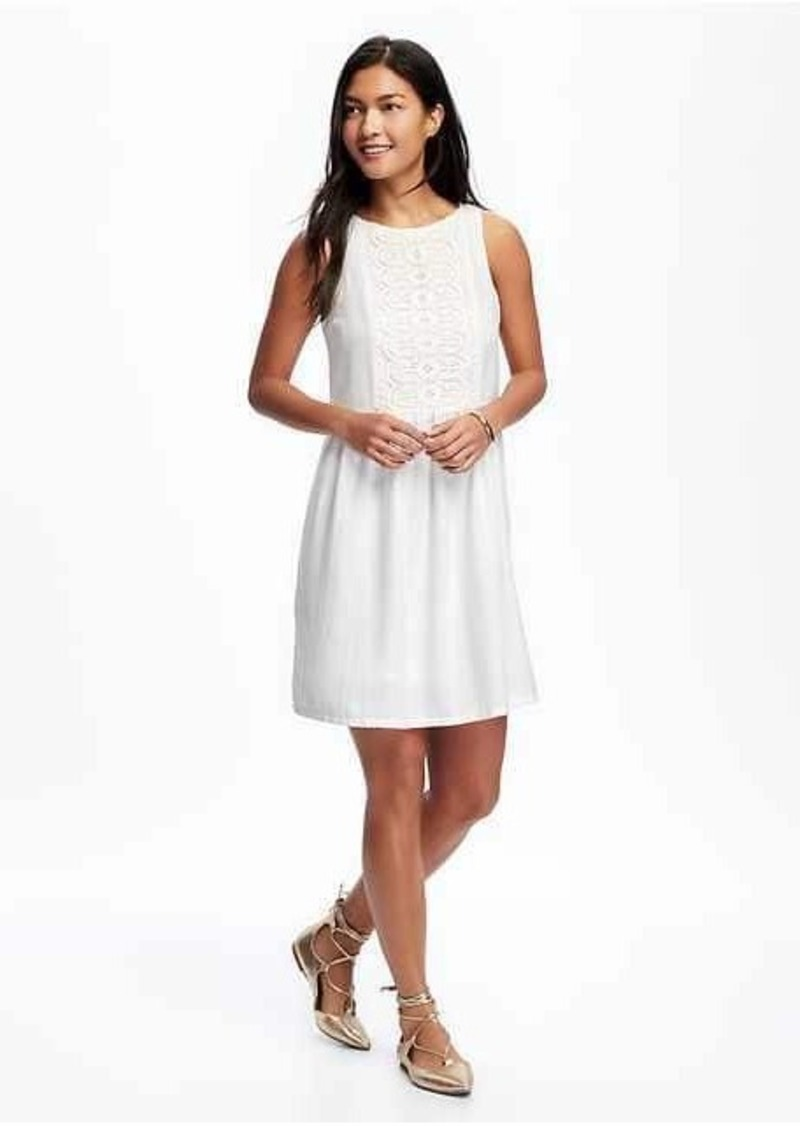 7fa4029cfc8 Old Navy Embroidered Swing Dress for Women Now  19.97