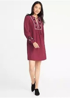 Embroidered Swing Dress for Women