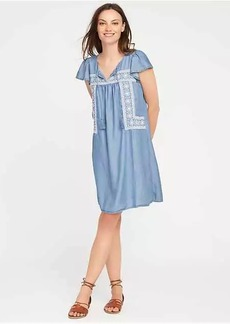 Embroidered Tencel&#153 Swing Dress for Women