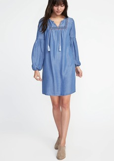 Old Navy Embroidered Tencel&#174 Shift Dress for Women