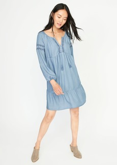 Old Navy Embroidered Tencel&#174 Swing Dress for Women