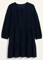Old Navy Embroidered Tiered-Hem Swing Dress for Women
