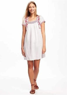 Embroidered-Trim Dress for Women