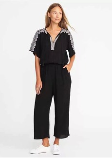 Old Navy Embroidered-Trim Jumpsuit for Women