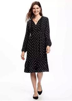 Empire-Waist Midi Dress for Women