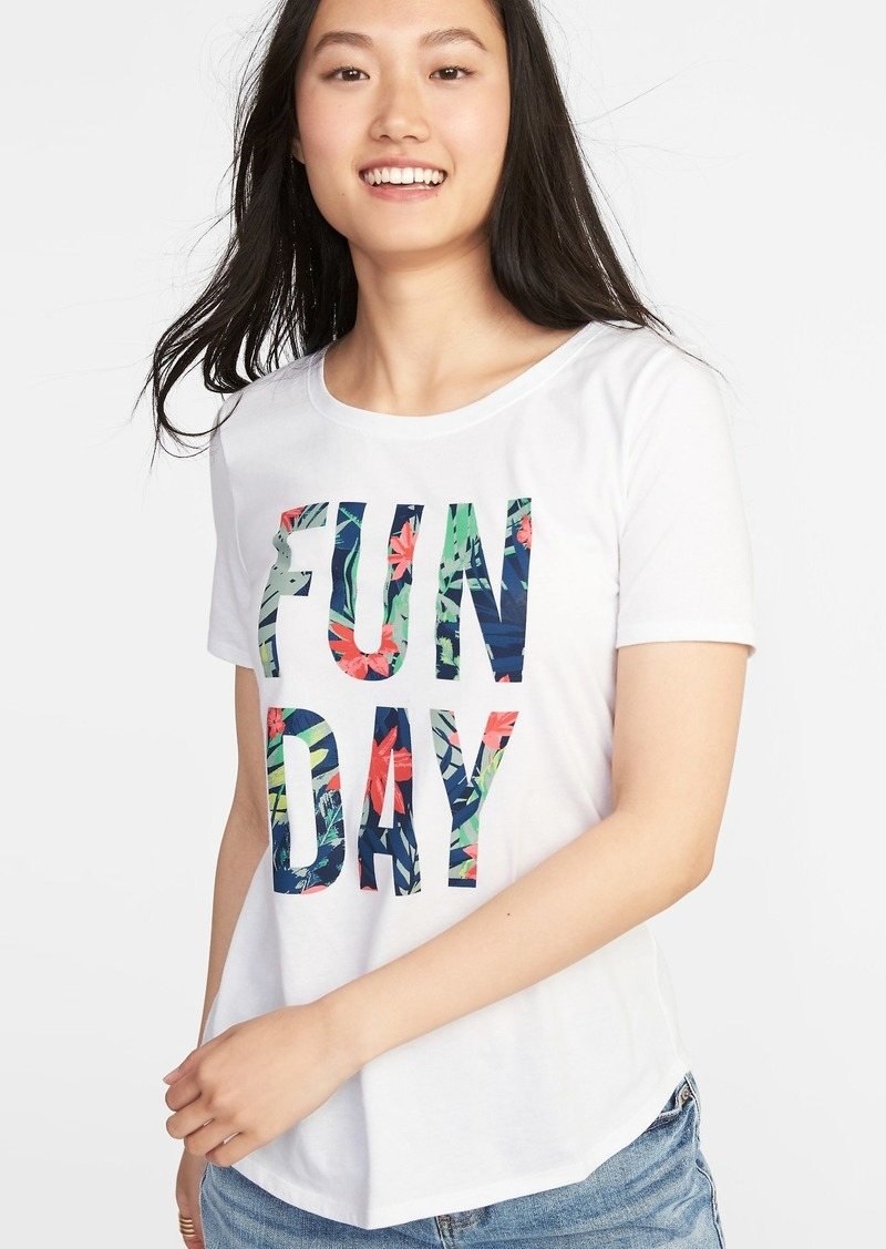 16be67c0c Old Navy EveryWear Graphic Crew-Neck Tee for Women | Tees