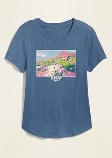 Old Navy EveryWear Logo-Graphic Tee for Women