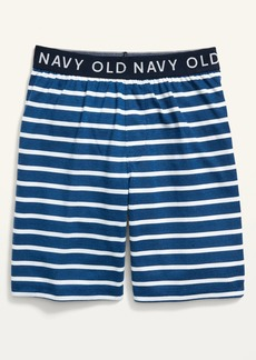 Old Navy Exposed-Elastic Striped Pajama Shorts for Boys