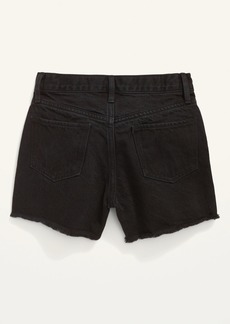 Old Navy Extra High-Waisted Distressed Black Cut-Off Jean Shorts for Girls