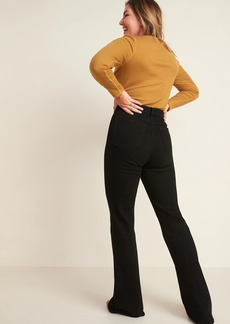 Old Navy Extra High-Waisted Flare Black Jeans for Women