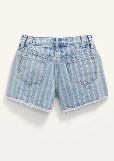 Old Navy Extra High-Waisted Railroad-Stripe Cut-Off Jean Shorts for Girls