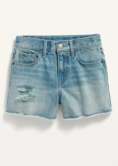 Old Navy Extra High-Waisted Distressed Cut-Off Jean Shorts for Girls