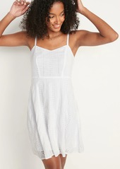 Old Navy Eyelet Cami Fit & Flare Dress for Women