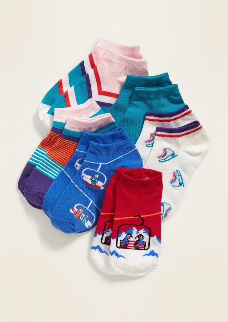 Old Navy Fashion Ankle Socks 6-Pack for Girls