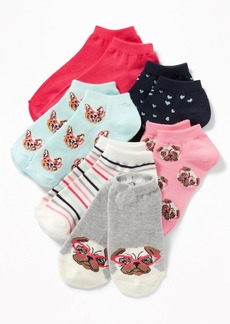 Old Navy Fashion No-Show Socks 6-Pack for Girls