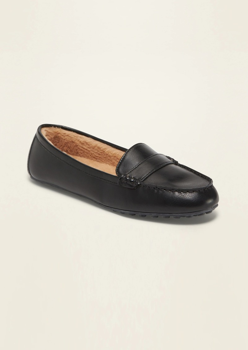 Old Navy Faux-Fur Lined Driving Moccasins for Women