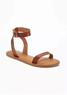 Old Navy Faux-Leather Ankle-Strap Sandals for Women