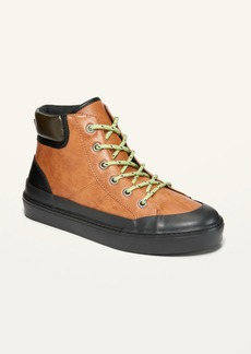 Old Navy Faux-Leather High-Top Hiking Boots for Boys