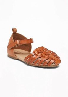 Old Navy Faux-Leather Huarache Sandals For Toddler Girls