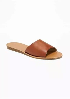Old Navy Faux-Leather Slide Sandals for Women