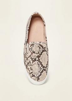 Old Navy Faux-Snakeskin Slip-On Sneakers for Women