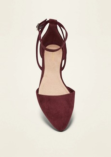 Old Navy Faux-Suede D'Orsay Ankle-Strap Flats for Women