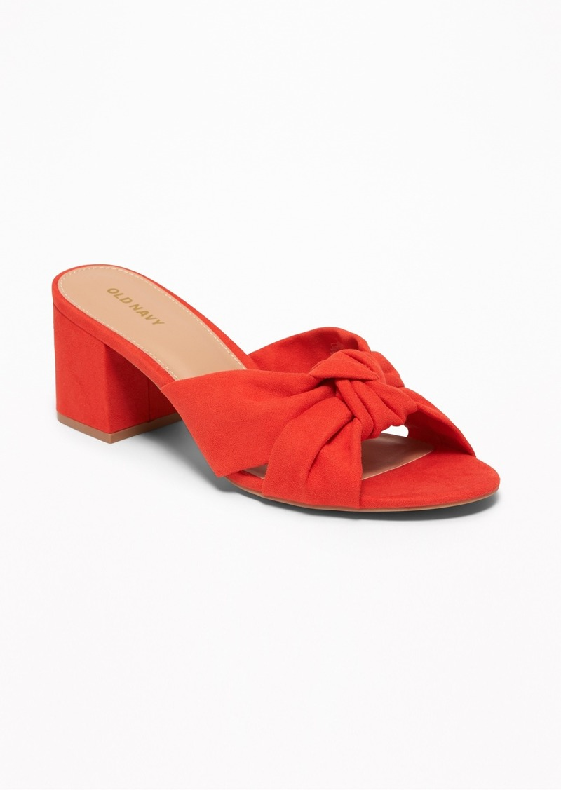 Old Navy Faux-Suede Block-Heel Mules for Women