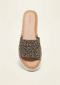 Old Navy Faux-Suede Espadrille Slide Sandals for Women