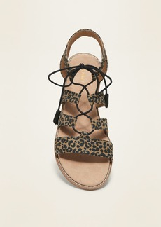 Old Navy Faux-Suede Lace-Up Gladiator Sandals for Women