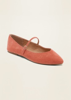 Old Navy Faux-Suede Mary-Jane Ballet Flats for Women