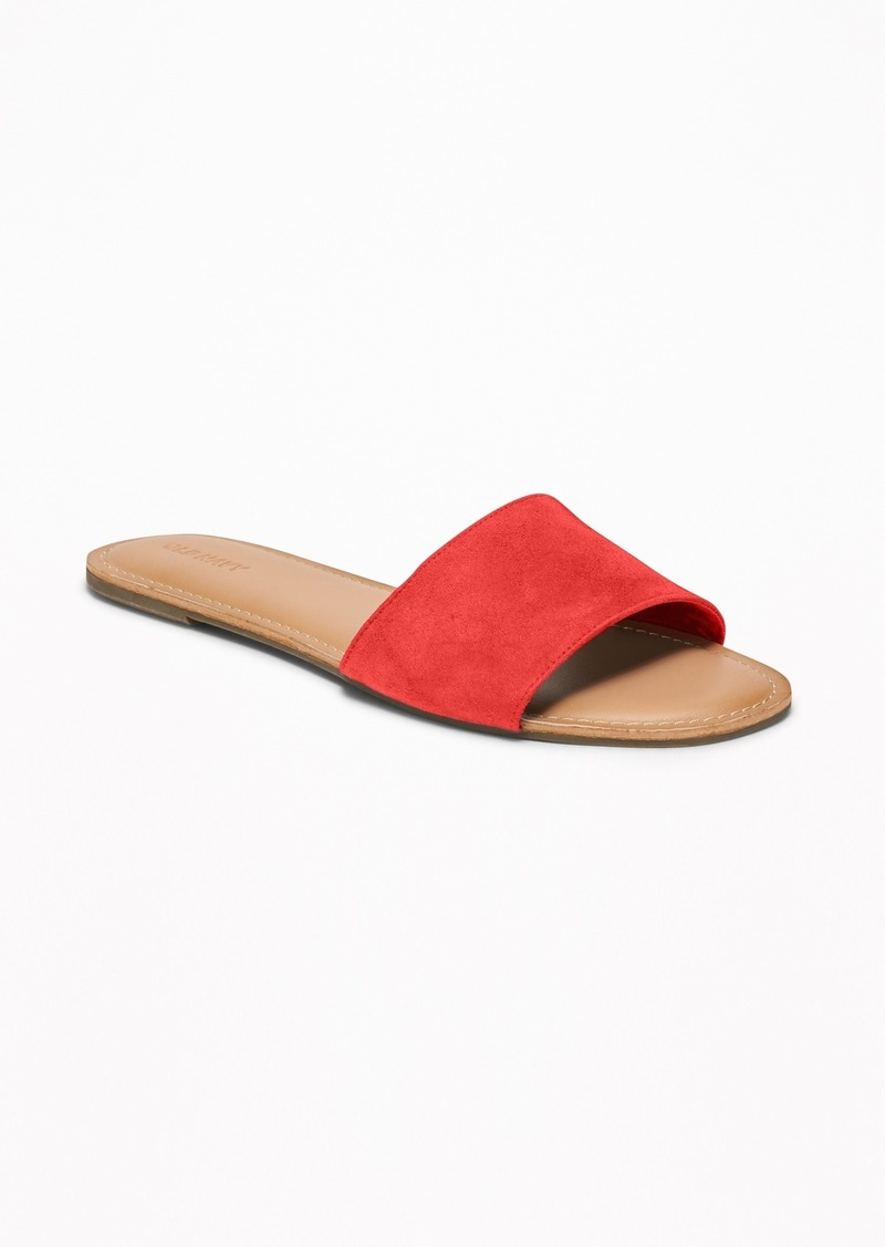 Old Navy Faux-Suede Slide Sandals for Women
