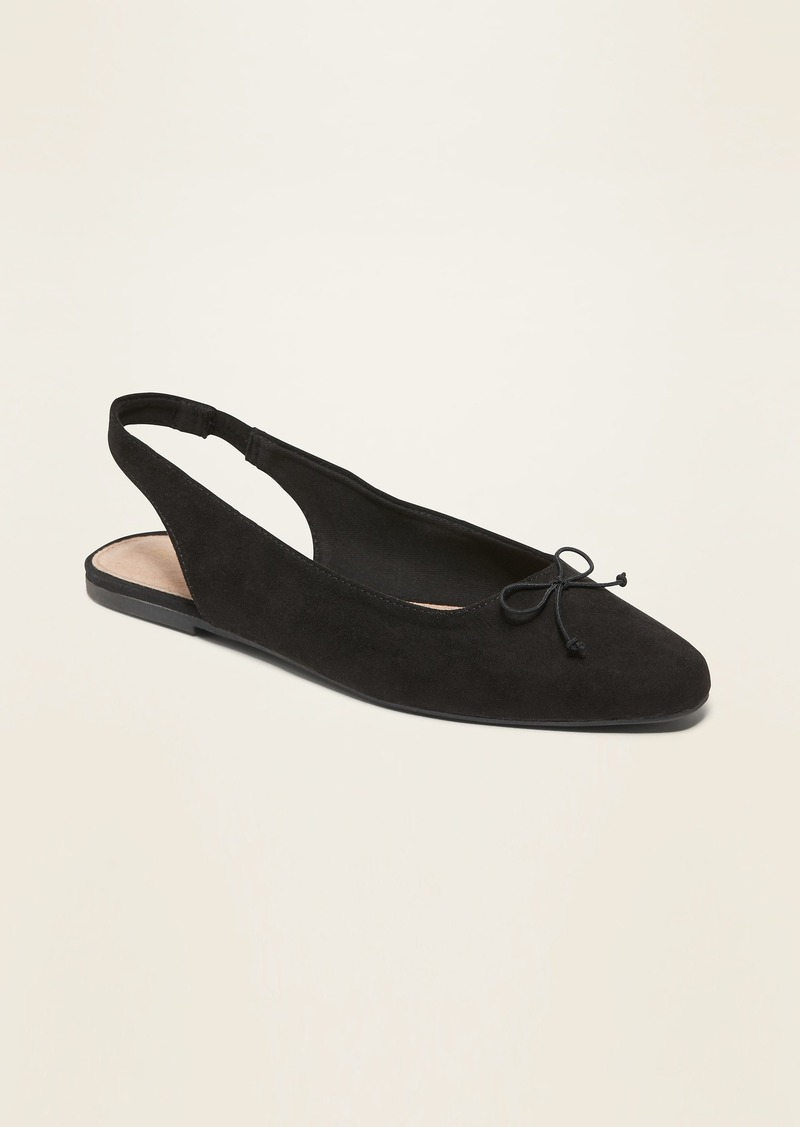 Old Navy Faux-Suede Slingback Flats for Women