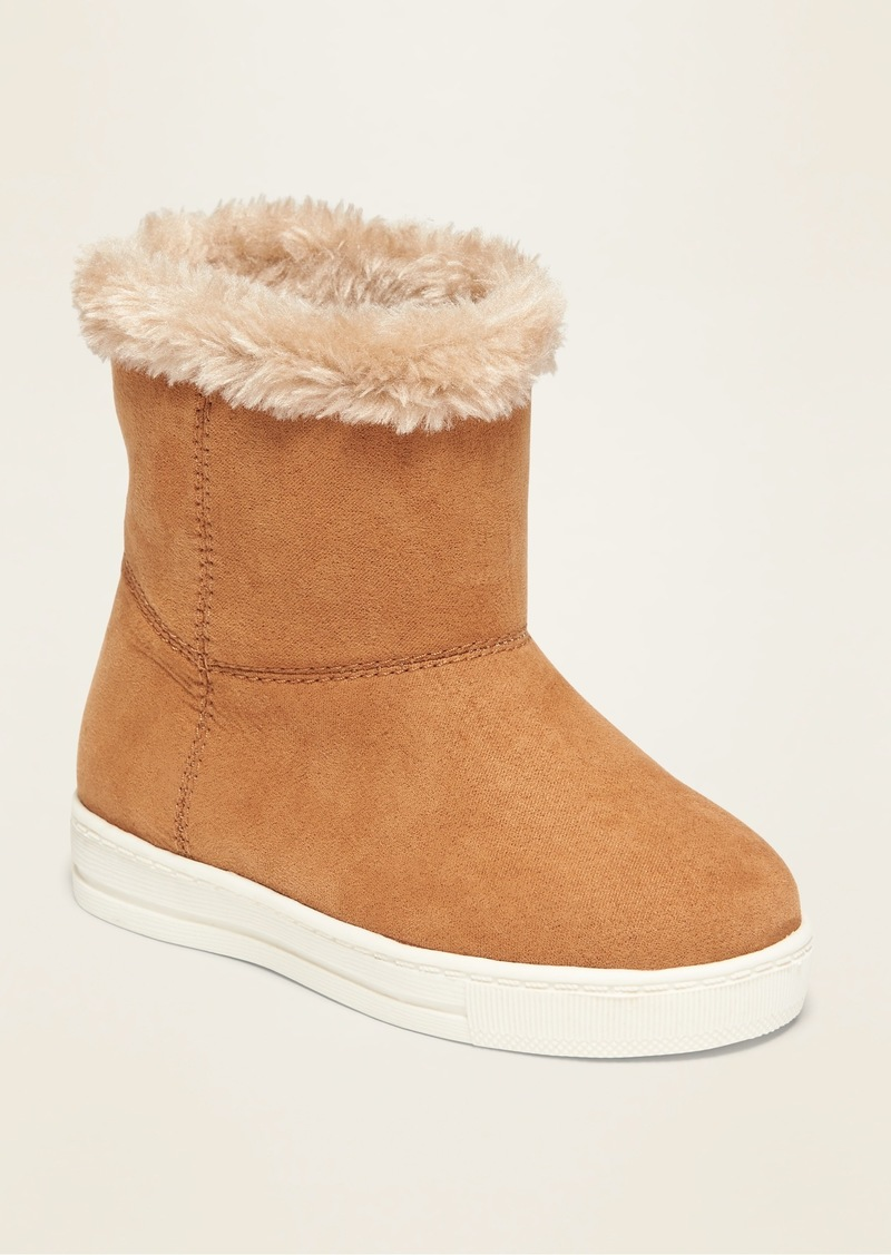 Old Navy Faux-Suede Sneaker Adoraboots for Toddler Girls