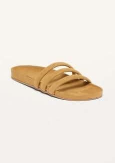 Old Navy Faux-Suede Triple-Strap Slide Sandals for Women