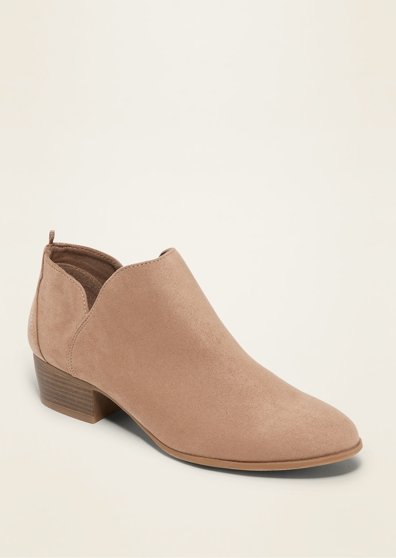 Old Navy Faux-Suede Tulip-Cutout Booties for Women