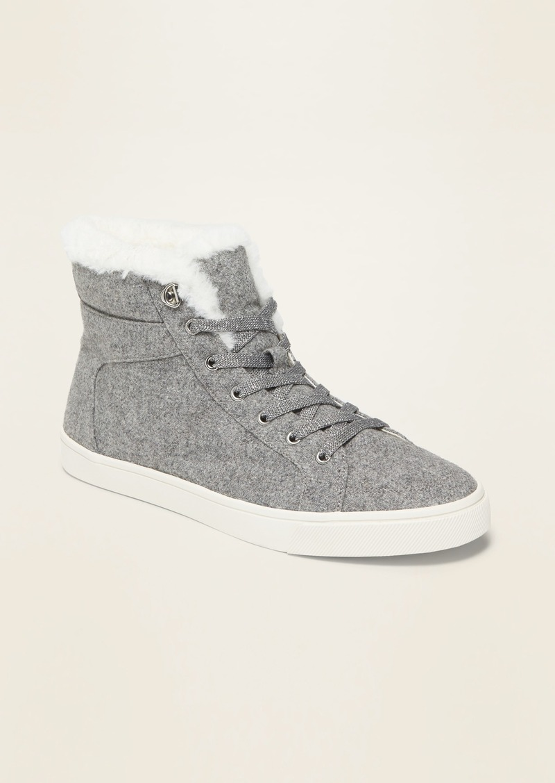 Old Navy Felt Faux-Fur-Lined High-Tops for Women