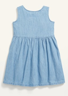 Old Navy Fit & Flare Button-Front Chambray Utility Dress for Toddler Girls