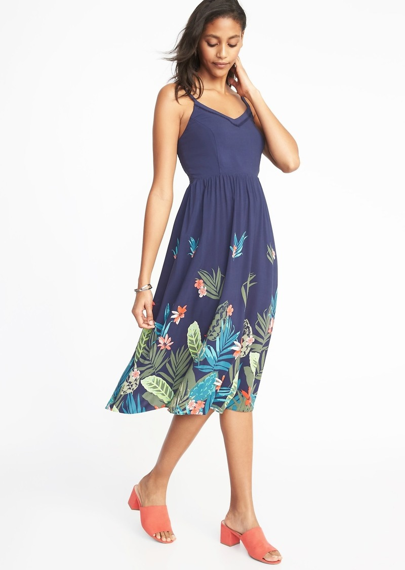abf1dfd96f1 SALE! Old Navy Fit   Flare Cami Midi Dress for Women