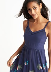 c0ee6baacb39 ... Old Navy Fit   Flare Cami Midi Dress for Women ...