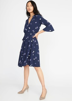 Fit & Flare Floral-Print Dress for Women