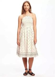 Fit & Flare Halter Dress for Women